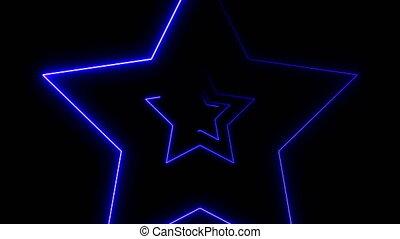 abstratos, fundo, com, néon, estrelas