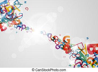 abstratos, fundo, com, números, e, lugar, para, seu,...