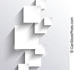 abstratos, fundo, com, papel, quadrados