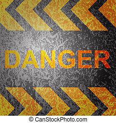 abstratos, fundo, com, perigo, aviso, vector.
