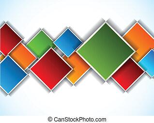abstratos, fundo, com, quadrados