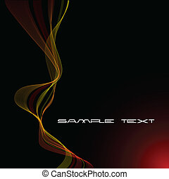 abstratos, fundo, com, vermelho amarelo, curvas