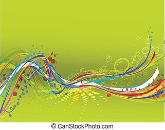 abstratos, fundo, composição, onda