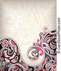 abstratos, fundo, curva