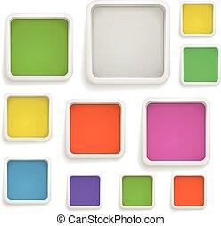 abstratos, fundo, de, cor, boxes., modelo, para, um, texto