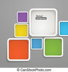 abstratos, fundo, de, cor, caixas
