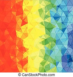 abstratos, fundo, de, diferente, cor, triângulos