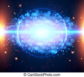 abstratos, fundo, eps, 10., luz, cósmico