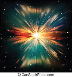 abstratos, fundo, estrelas, espaço
