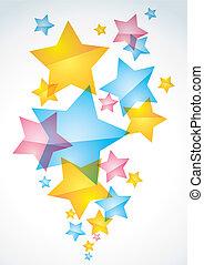 abstratos, fundo, estrelas