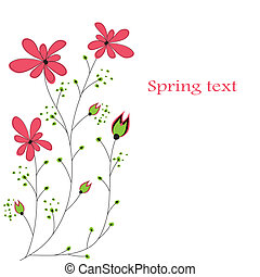 abstratos, fundo, flowers.