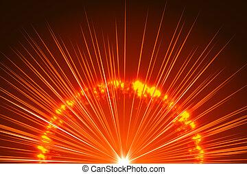abstratos, fundo, laranja, explosão