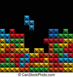 abstratos, fundo, o?, cor, jogo, figuras