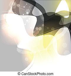 abstratos, fundo, onda