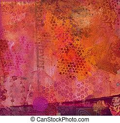 abstratos, fundo, pintado