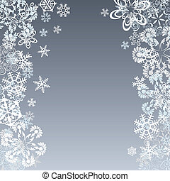 abstratos, fundo, snowflake