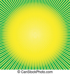 abstratos, fundo, verde-amarelo, (vector)