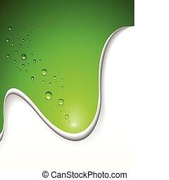 abstratos, fundo, verde