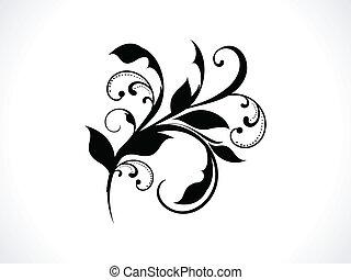 abstratos, fundo, vetorial, floral