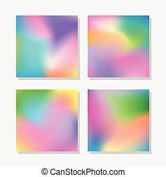 abstratos, fundos, coloridos, obscurecido