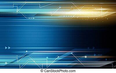 abstratos, futurista, ciência, concept., vetorial, tecnologia, energia