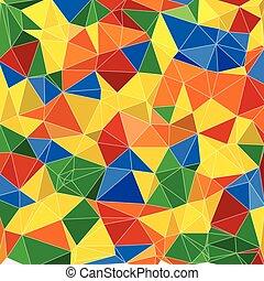 abstratos, geomã©´ricas, fundo, com, polígonos