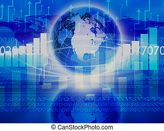 abstratos, global, fundo, negócio