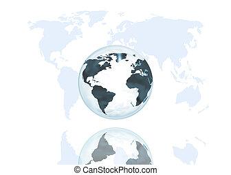 abstratos, globo