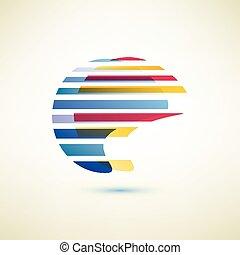 abstratos, globo, forma, vetorial, símbolo