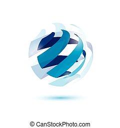 abstratos, globo, símbolo