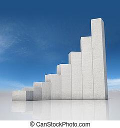 abstratos, gráfico, crescimento