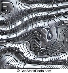 abstratos, grande, metal, imagem, fundo