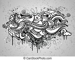 abstratos, grunge, desenho