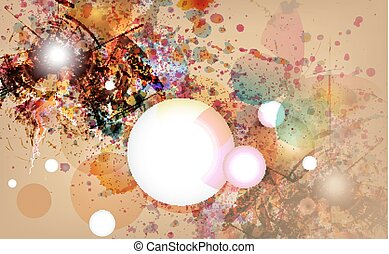 abstratos, grunge, fundo, design.