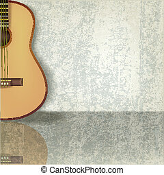 abstratos, grunge, música, fundo, com, guitarra
