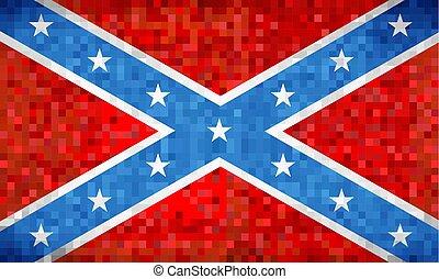 abstratos, grunge, mosaico, bandeira confederada