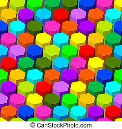 abstratos, hexágono, pattern., seamless