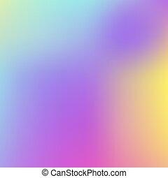 abstratos, holographic, fundo, em, pastel, néon, cor, design., obscurecido, wallpaper., vetorial, ilustração, para, seu, modernos, estilo, tendências, 80s, 90s, fundo, para, criativo, desenho