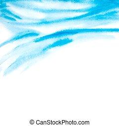 abstratos, ilustração, aquarela, vetorial, fundo, waves.