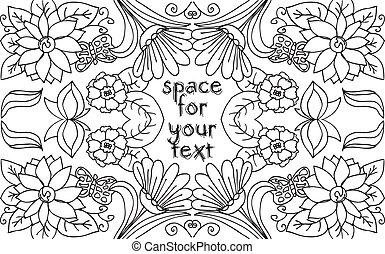 abstratos, ilustração, mão, experiência., vetorial, desenhado