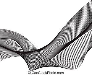 abstratos, ilustração, onda, vetorial, projete elemento