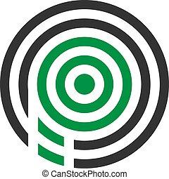 abstratos, ilustração, p, vetorial, desenho, pernilongo, letra, logotipo, ícone