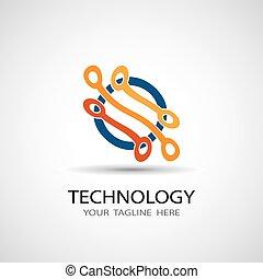 abstratos, ilustração, vetorial, circuito, ícone, tábua, tecnologia