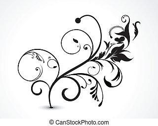 abstratos, ilustração, vetorial, floral