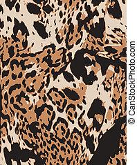 abstratos, impressão animal