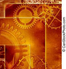 abstratos, industrial, engenharia, fundo