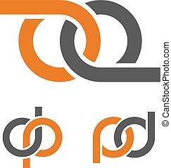 abstratos, infinidade, oito, emblema