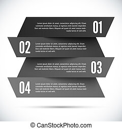 abstratos, infographic, modelo