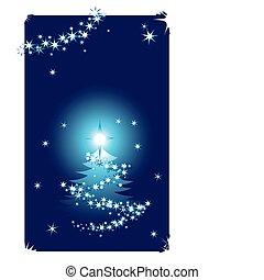 abstratos, inverno, fundo, com, árvore natal