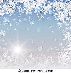 abstratos, inverno, fundo